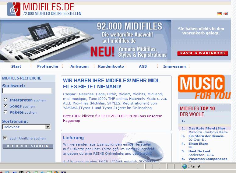 midifiles ohne lyrics